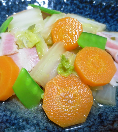 白菜とベーコンの柚子こしょう煮 拡大