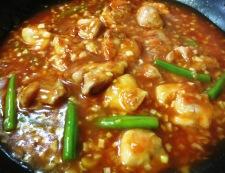 鶏チリ(鶏もも肉のチリソース) 調理⑤