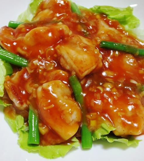 鶏チリ(鶏もも肉のチリソース) B
