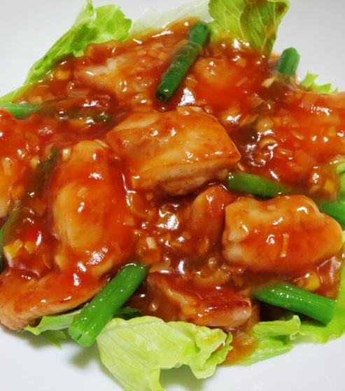 鶏チリ(鶏もも肉のチリソース) 拡大