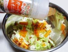 キャベツのピリ辛ガーリック風味和え 調理②