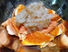 鮭アラの梅おろし和え 調理⑥