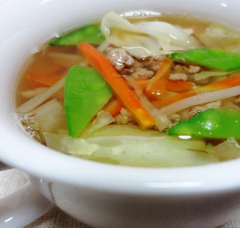 豚ひき肉スープ 大