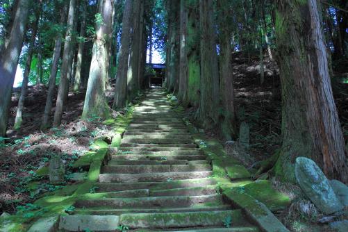 雲峰寺の石段
