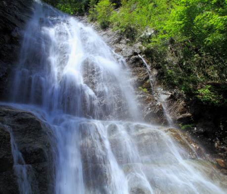 中段から上段の滝を狙う