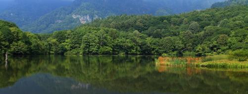湖面に映える