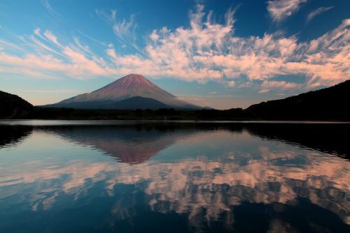 霊峰富士夕景