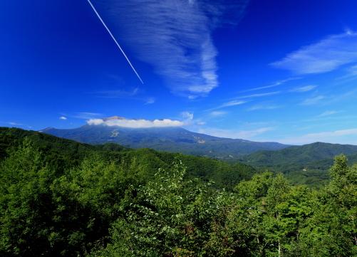 雲の映える御岳