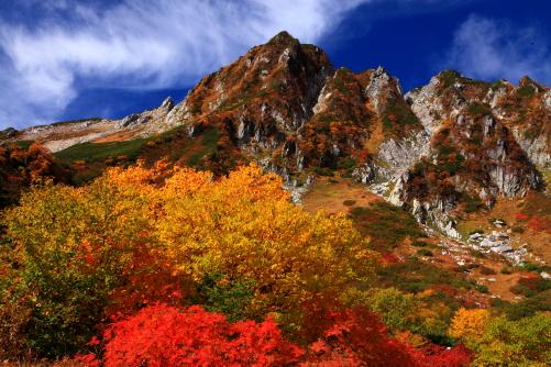 南宝剣岳を彩る錦秋