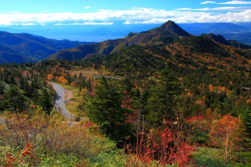 紅葉映える笠ヶ岳