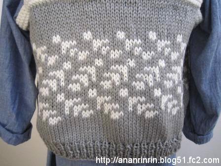 手編みベスト2