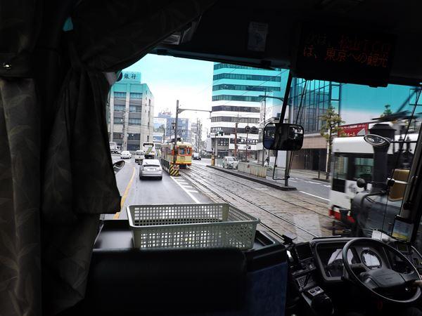 勝山町で路面電車とサヨウナラ