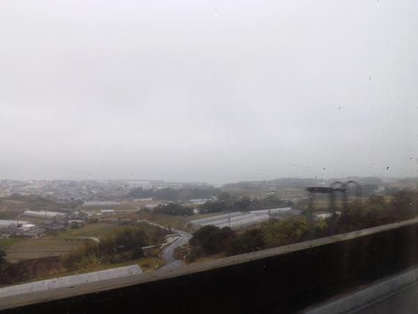 靄がかる瀬戸内海