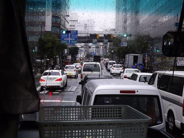 四つ橋筋も渋滞