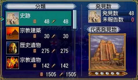 書庫タン!(考古学編終了!)ルティーさん発見総数!