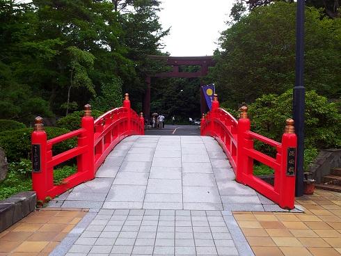 仙台城の橋