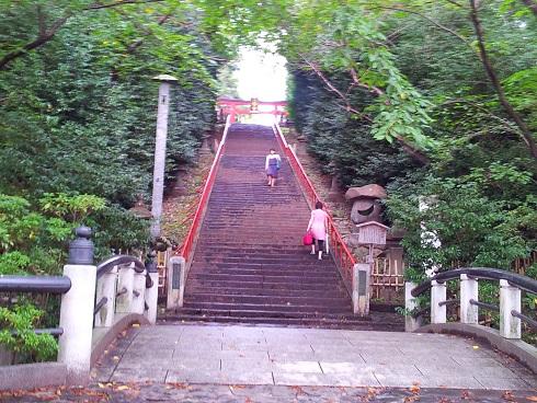大崎八幡宮の階段