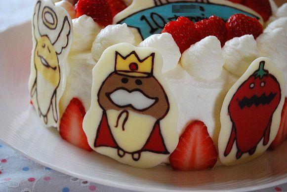なめこ10歳ケーキ③