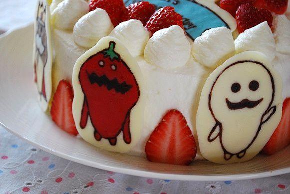なめこ10歳ケーキ④