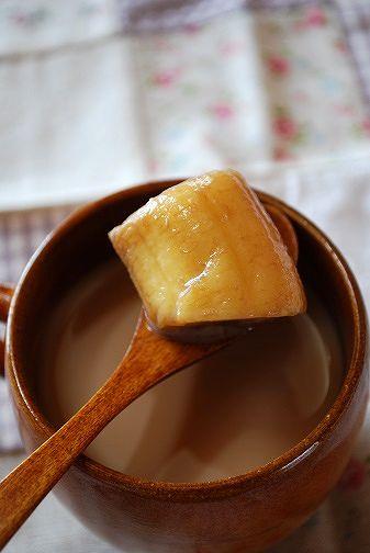 バナナ&シナモンフルブラでホットミルクティー②