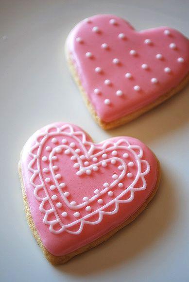 ハートピンクアイシングクッキー