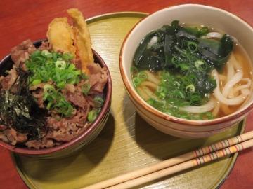 ミニセット 500円(丼小+ミニうどん)