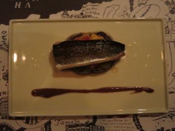 秋刀魚とイチジク 秋茄子のミルフィーユ仕立て