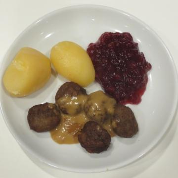 スウェーデンミートボール5個(2013、299円・税別)