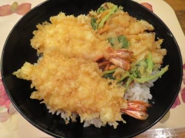 天丼 750円(蓋とりました)