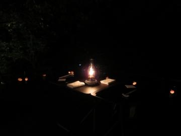 オプション 月見台での夕食