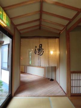大浴場・露天風呂への入口の暖簾