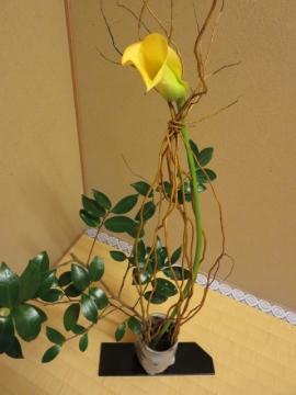 部屋の生け花