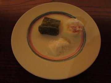 万願寺唐辛子、淡路の玉葱、ゆで卵にコーヒーリキュール