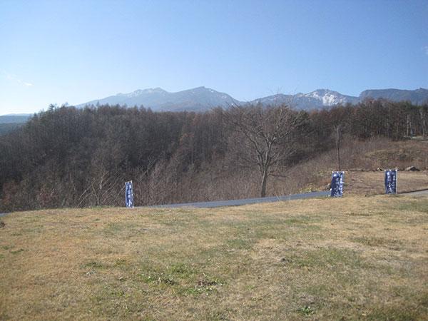 ヤッホーの湯から見た八ヶ岳
