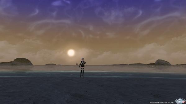 夕方のビーチでつかまえて