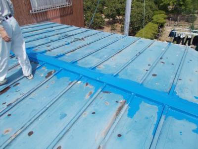001 生口島 N様邸 さび止め屋根塗装工事  正義の味方 べんりMAN 15