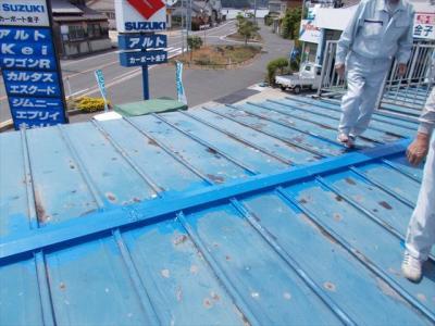 002 生口島 N様邸 さび止め屋根塗装工事  正義の味方 べんりMAN 15