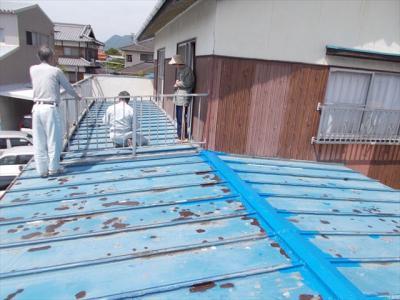 003 生口島 N様邸 さび止め屋根塗装工事  正義の味方 べんりMAN 15