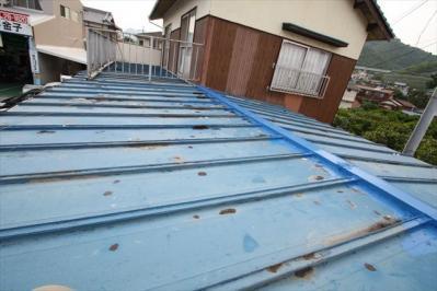 011 生口島 N様邸 さび止め屋根塗装工事  正義の味方 べんりMAN 15