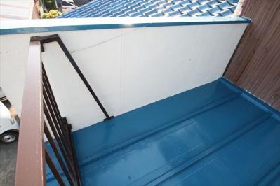 030 生口島 N様邸 さび止め屋根塗装工事  正義の味方 べんりMAN 15