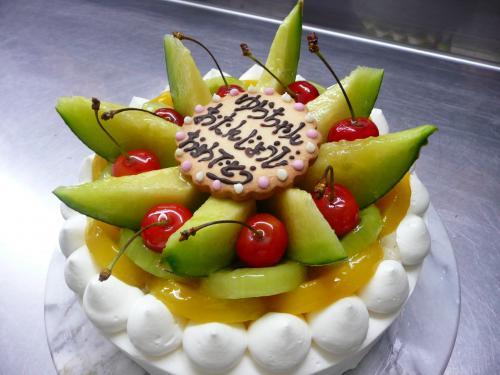 夏のバースデーケーキ