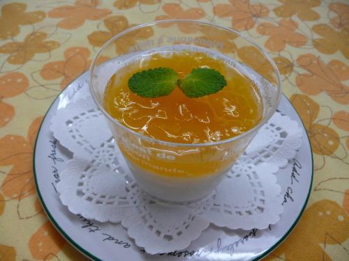 ココナッツとオレンジのゼリー