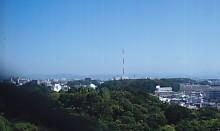 夏日の浜松市北部上空