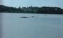 佐鳴湖・ボートの練習