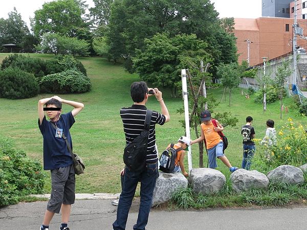 平岸高台公園 観光客