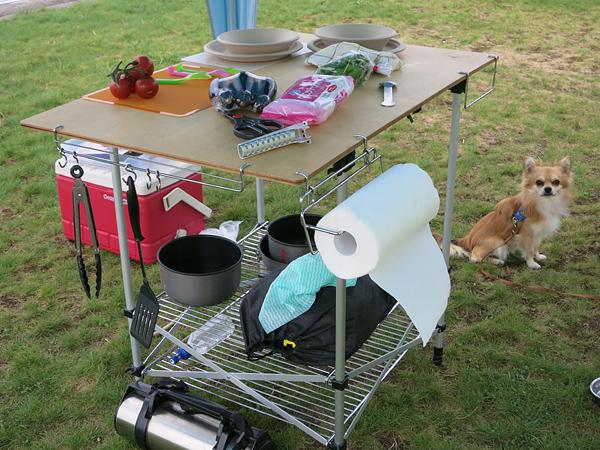 高岡オートキャンプ場 食事の準備
