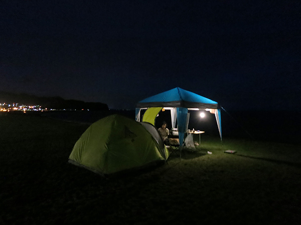 高岡オートキャンプ場 テント 夜