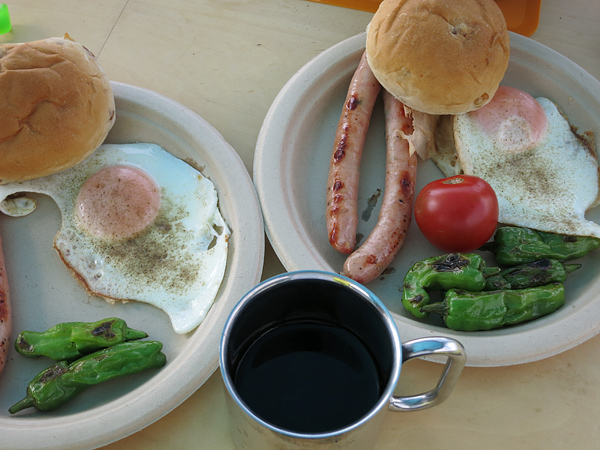 高岡オートキャンプ場 朝食
