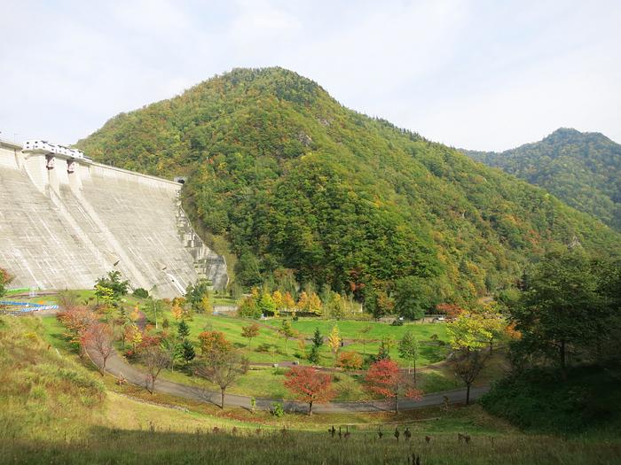 定山渓ダム下流園地 紅葉