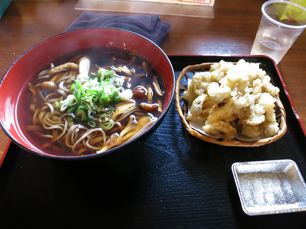 きのこ王国 大滝本店 きのこ天ぷらそば